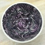 A fantastic use of etching on a futura bowl. #paintthetown #staffpicks #etching