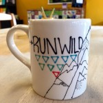 The mountains are calling you from this  regular 12 oz mug painted by Erica
