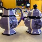 A twofer! Birmingham creamer and sugar bowl set painted by Anna B.
